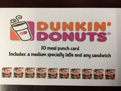 Dunkin Donuts- 10 meal punch card