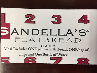 Sandella's 8 Meal Punch Card