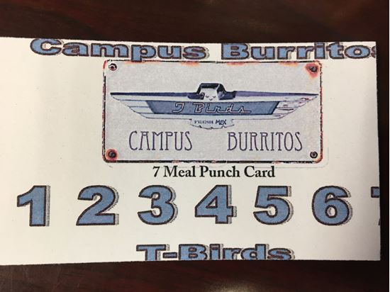Picture of T-Birds 7 Meal Punch Card