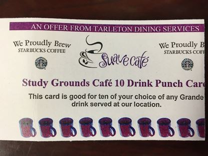 Study Grounds Cafe 10 Drink Punch Card