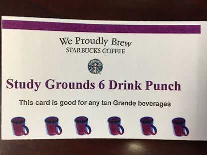 Study Grounds Cafe 6 Drink Punch Card