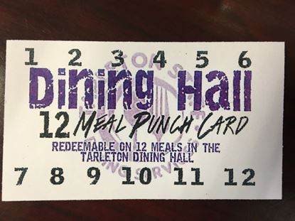 Dining Hall 12 Meal Punch Card