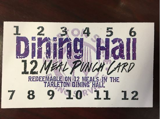 Picture of Dining Hall 12 Meal Punch Card